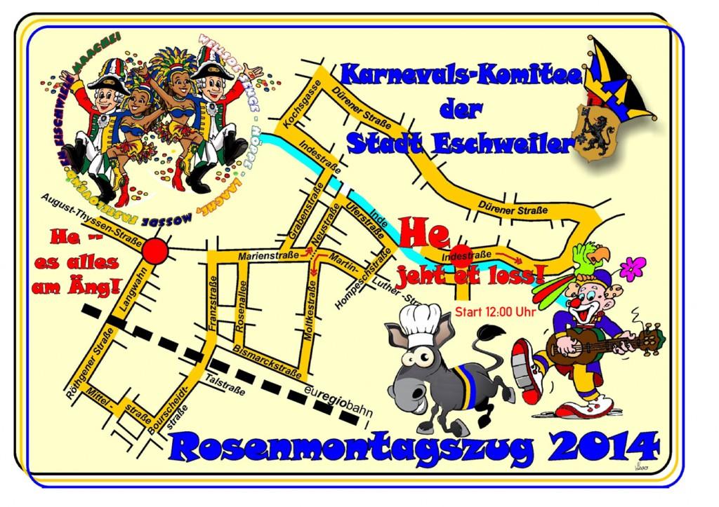 Rosenmontagszug 2014 Eschweiler - Weisweiler