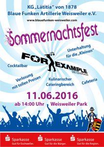 Sommernachtsfest Weisweiler 2016